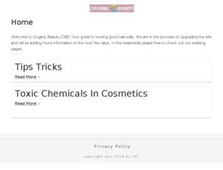 organic-beauty.org screenshot