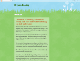 organic-healing.blogspot.com screenshot