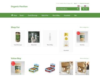 organic-pavilion.myshopify.com screenshot