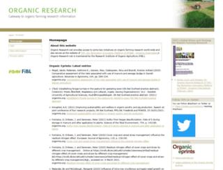 organic-research.org screenshot