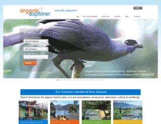 organicexplorer.co.nz screenshot