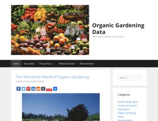 organicgardeningdata.com screenshot