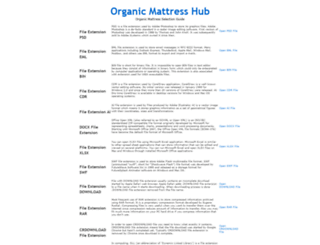 organicmattresshub.com screenshot