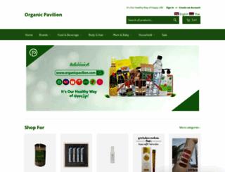 organicpavilion.com screenshot