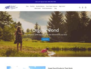 organicpond.com screenshot