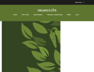 organicslivefranchise.com screenshot