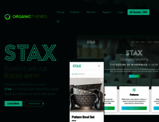 organicthemes.com screenshot