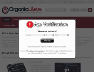 organicvaporlabs.com screenshot