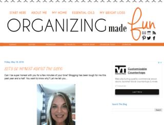 organizingmadefun.blogspot.ca screenshot