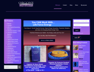 orgonecrystals.com screenshot