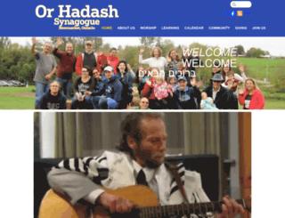 orhadash.org screenshot