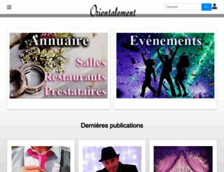 orientalement.com screenshot