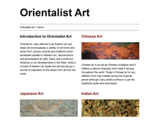 orientalist-art.org.uk screenshot