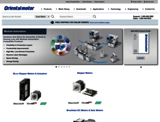 orientalmotor.com screenshot