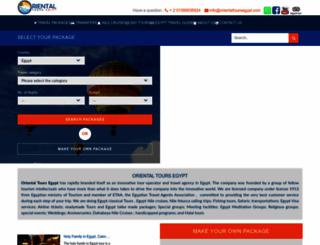 orientaltoursegypt.com screenshot