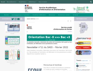 orientation.ac-creteil.fr screenshot