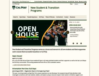 orientation.calpoly.edu screenshot