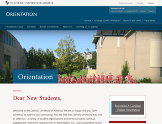 orientation.cua.edu screenshot