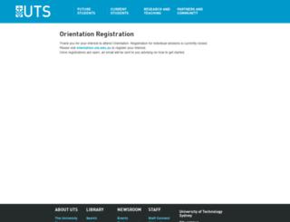 orientationregistration.uts.edu.au screenshot