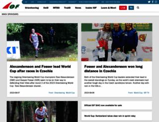orienteering.org screenshot