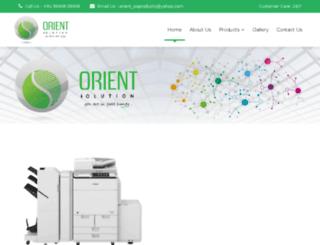 orientsolution.com screenshot