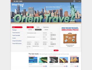 orienttravels.com screenshot