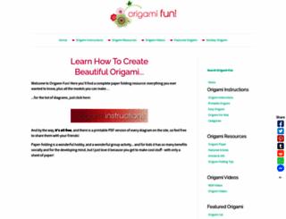 origami-fun.com screenshot