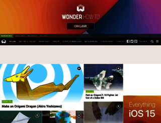 origami.wonderhowto.com screenshot
