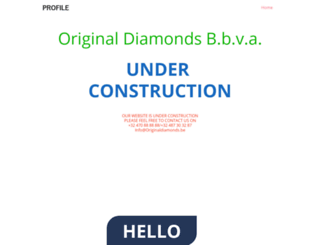 originaldiamonds.be screenshot