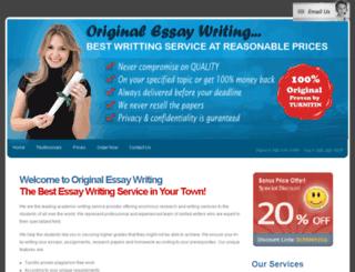 originalessaywriting.com screenshot