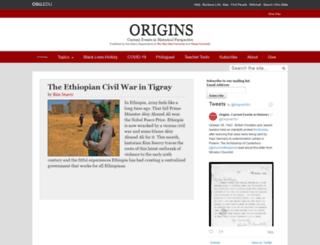 origins.osu.edu screenshot