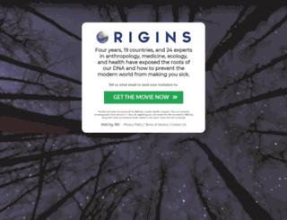 origins.well.org screenshot