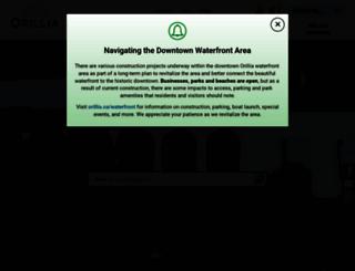 orillia.ca screenshot