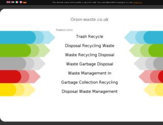 orion-waste.co.uk screenshot