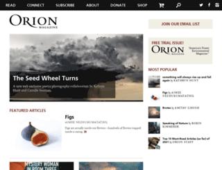 oriongrassroots.org screenshot