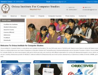 orissainstitute.com screenshot