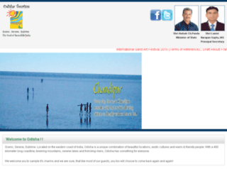 orissatourism.gov.in screenshot