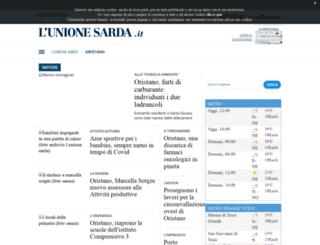 oristano.unionesarda.it screenshot