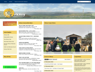 orkneycommunities.co.uk screenshot