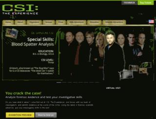 orlando.csiexhibit.com screenshot
