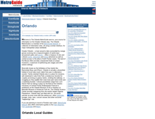 orlando.metroguide.net screenshot