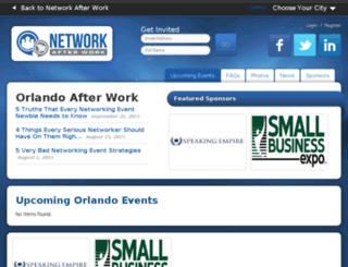 orlando.networkafterwork.com screenshot