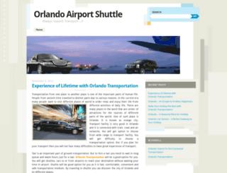 orlandoairportshuttle.wordpress.com screenshot