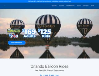 orlandoballoonrides.com screenshot