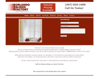 orlandoblindsfactory.com screenshot