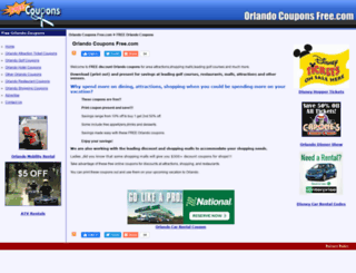 orlandocouponsfree.com screenshot