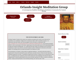 orlandoinsightmeditation.org screenshot