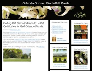orlandoonline.findegiftcards.com screenshot