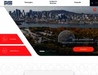 orlandosanfordairport.com screenshot