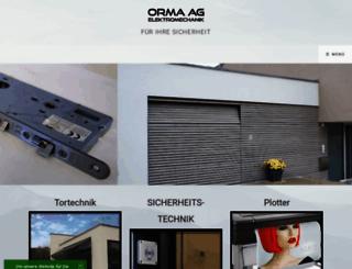 orma-ag.ch screenshot